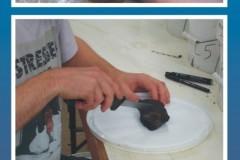 Examining peat