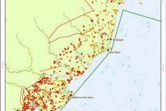 Roman to Medieval coastal sites distribution map