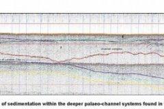Sub-bottom profiler data image of a Palaeo-channel