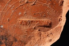 Samian pottery stamp