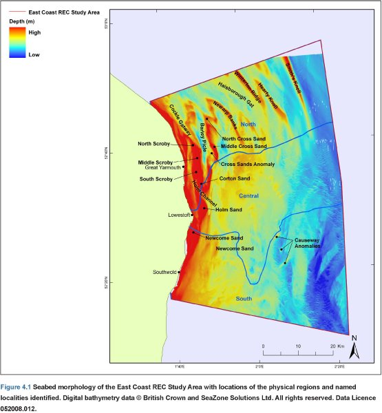 Seabed morphology bathymetry