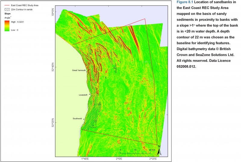 Sandbank location map