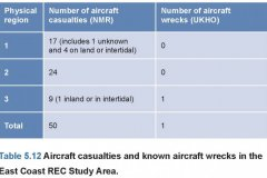 Aircraft casualties table