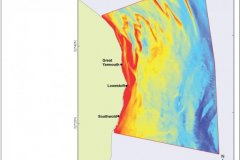 Seabed morphology bathymetry map