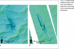 Multibeam image of two shipwrecks