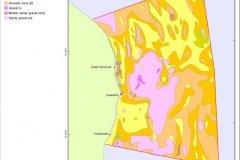 Sediment distribution map