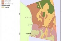 Underlying geology map