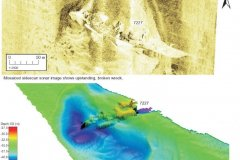 SS Stad Alkmaar Sidescan and Bathymetry images