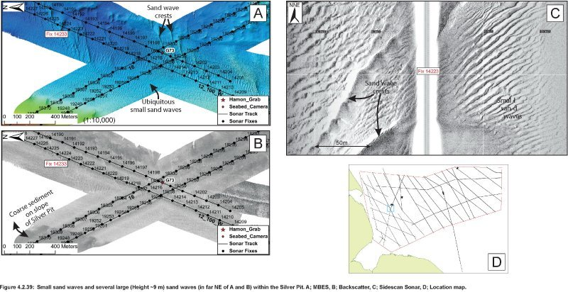 Geophysical images of sandwaves in the Silver Pit