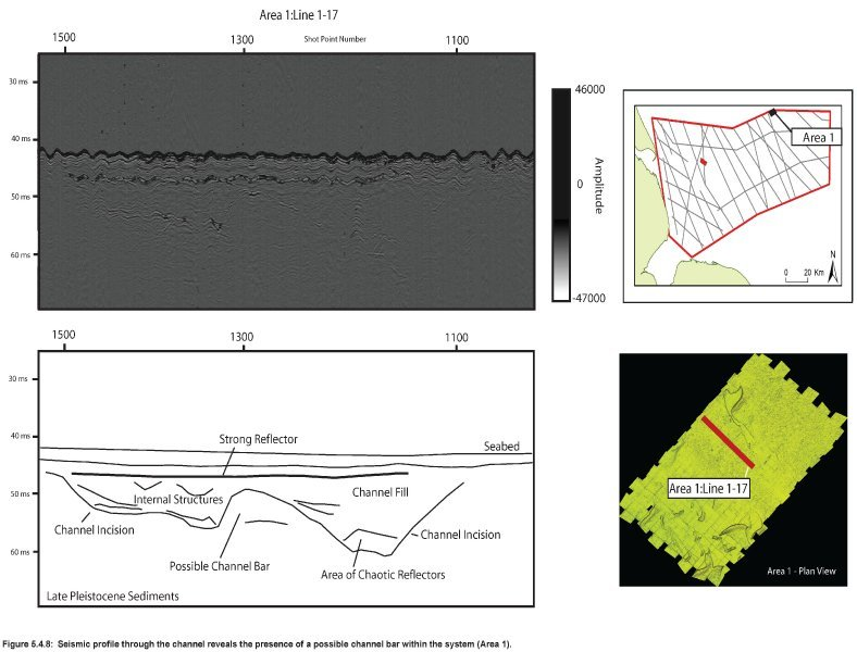 Palaeochannel and potential bar seismic profile in archaeology area1