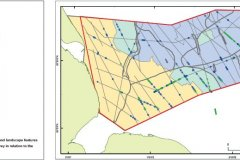 Geophysical features and landscape characterisation map