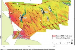 Tunnel valleys and ground truthing sites