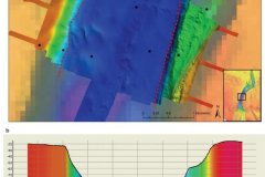 Silver Pit bathymetry map and profile