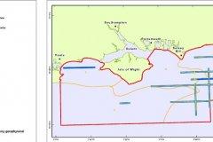2007 REC Geophysical survey line map