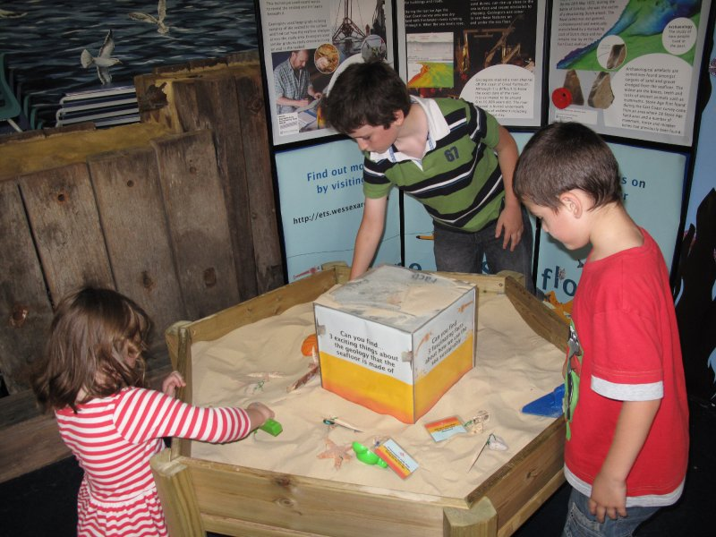 At the sand table, Great Yarmouth