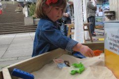 At the sand table, Brighton