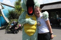 Katie making friends, Weymouth