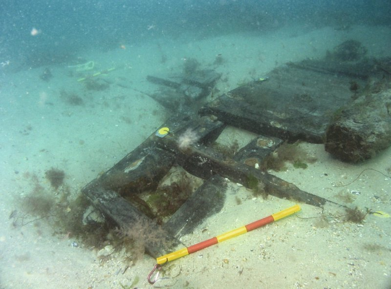Upper works of the Swash channel wreck