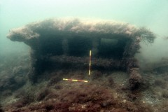 Iron box at the Cardigan Bay wreck site