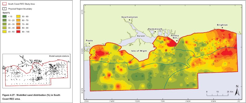 South Coast REC seabed sand distribution