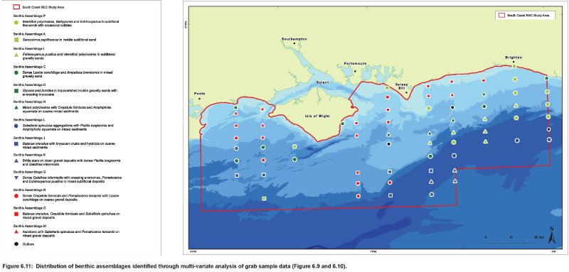 Distribution of Benthic macrofauna communities