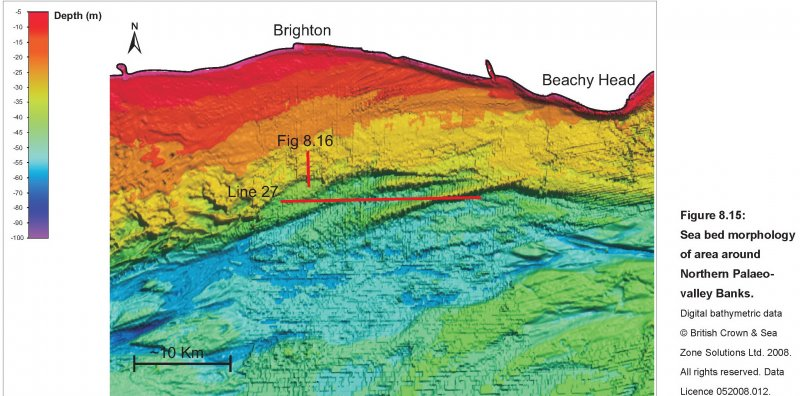 Northern palaeovalley and banks bathymetric data image