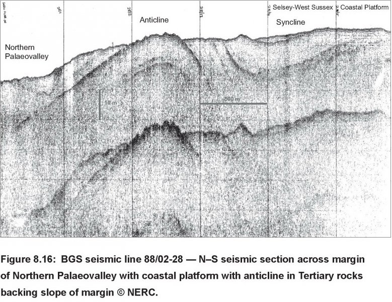Northern palaeovalley and banks sub-bottom profiler data image