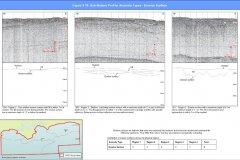 Sub-bottom profiler data images of Erosion surface anomalies