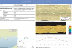Possible uncharted wreck identified by the geophysical survey