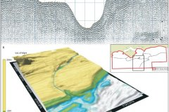 Palaeosolent channel course and section shown in sub-bottom profiler data