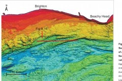 Northern palaeovalley and banks bathymetric data image