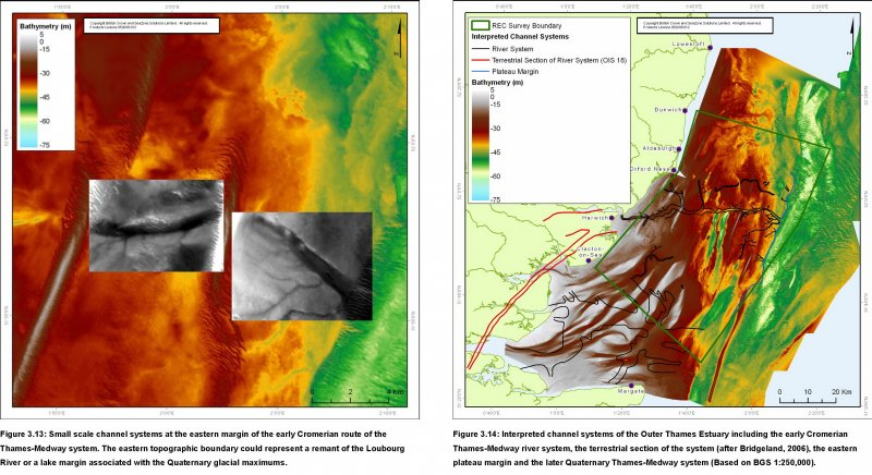 REC Bathymetry and Sidescan sonar data showing palaeo river systems