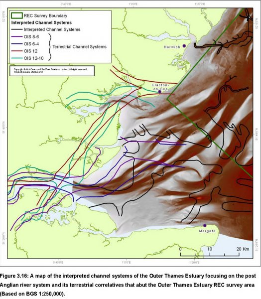 Interpreted Palaeo-river systems