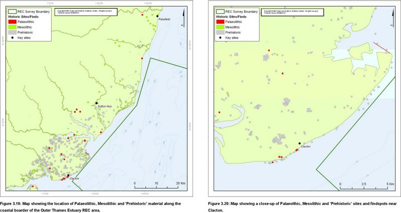 Palaeolithic to Mesolithic finds distribution maps