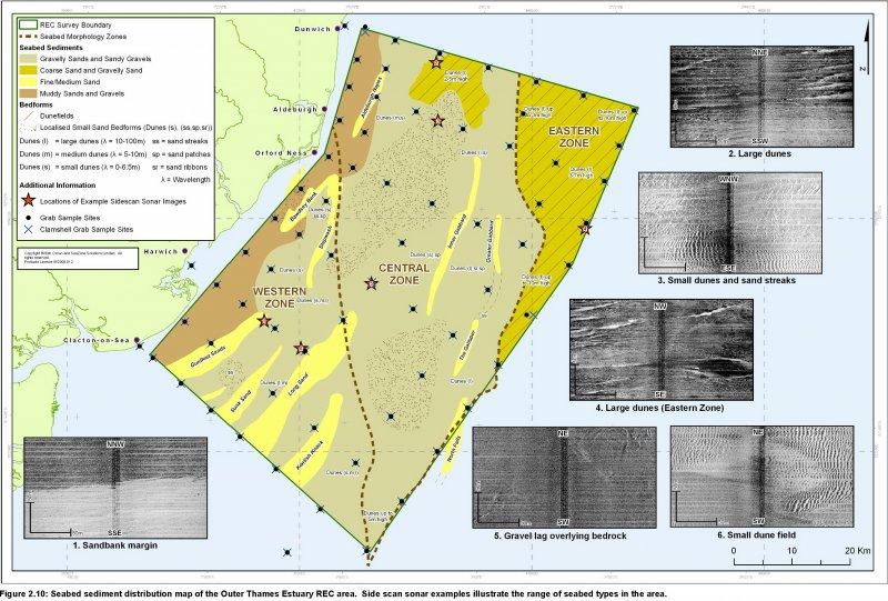 Seabed sediment distribution map