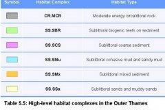 High level Habitat classification map key