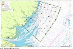 The Outer Thames Estuary REC survey station array chart
