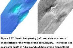 Terkunimaru - Bathymetry and Sidescan sonar data images examples