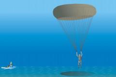 Airman parachuting